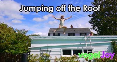 jumping off the roof vogeljoy