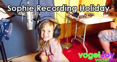 Sophie recording holiday vogeljoy